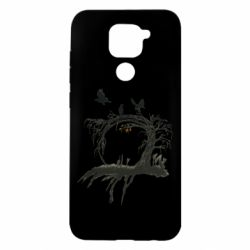 Чехол для Xiaomi Redmi Note 9/Redmi 10X Dark autumn forest