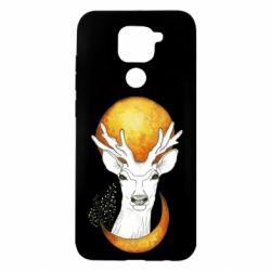 Чехол для Xiaomi Redmi Note 9/Redmi 10X Deer and moon