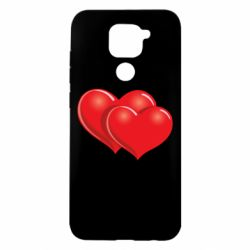 Чехол для Xiaomi Redmi Note 9/Redmi 10X Два сердца
