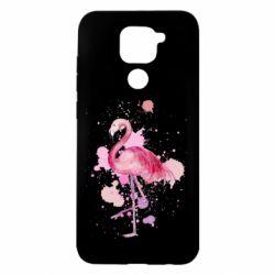 Чехол для Xiaomi Redmi Note 9/Redmi 10X Flamingo pink and spray