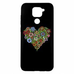 Чохол для Xiaomi Redmi Note 9/Redmi 10X Flower heart