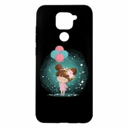 Чехол для Xiaomi Redmi Note 9/Redmi 10X Girl with balloons