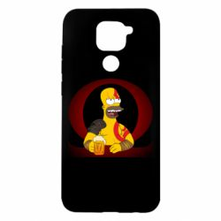 Чехол для Xiaomi Redmi Note 9/Redmi 10X God of war: Simpson