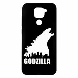 Чехол для Xiaomi Redmi Note 9/Redmi 10X Godzilla and city