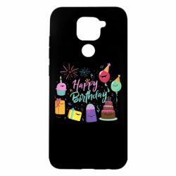 Чохол для Xiaomi Redmi Note 9/Redmi 10X Happy Birthday