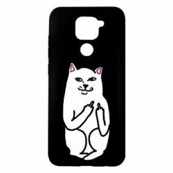 Чехол для Xiaomi Redmi Note 9/Redmi 10X Кот с факом