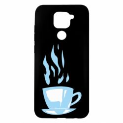 Чехол для Xiaomi Redmi Note 9/Redmi 10X Light blue cup of coffee