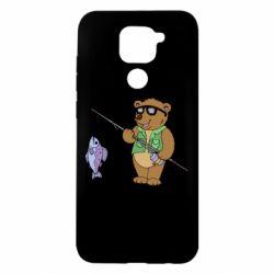 Чохол для Xiaomi Redmi Note 9/Redmi 10X Ведмідь ловить рибу