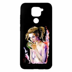 Чехол для Xiaomi Redmi Note 9/Redmi 10X Naked girl with coffee