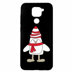 Чехол для Xiaomi Redmi Note 9/Redmi 10X Penguin in the hat and scarf