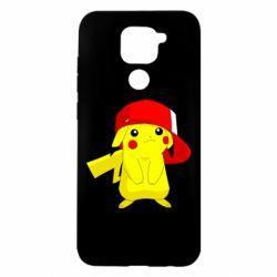 Чехол для Xiaomi Redmi Note 9/Redmi 10X Pikachu in a cap