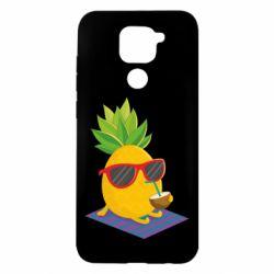 Чехол для Xiaomi Redmi Note 9/Redmi 10X Pineapple with coconut