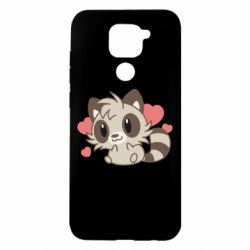 Чехол для Xiaomi Redmi Note 9/Redmi 10X Raccoon chibi