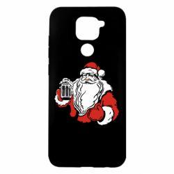 Чехол для Xiaomi Redmi Note 9/Redmi 10X Santa Claus with beer