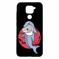 Чехол для Xiaomi Redmi Note 9/Redmi 10X Shark or dolphin