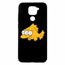 Чехол для Xiaomi Redmi Note 9/Redmi 10X Simpsons three eyed fish