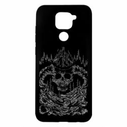 Чехол для Xiaomi Redmi Note 9/Redmi 10X Skull with horns in the forest