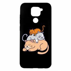 Чехол для Xiaomi Redmi Note 9/Redmi 10X Sleeping cats