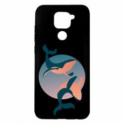 Чехол для Xiaomi Redmi Note 9/Redmi 10X Two whales