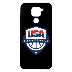 Чехол для Xiaomi Redmi Note 9/Redmi 10X USA basketball