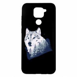 Чехол для Xiaomi Redmi Note 9/Redmi 10X Wolf and forest