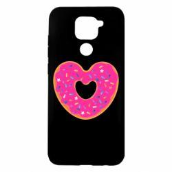Чехол для Xiaomi Redmi Note 9/Redmi 10X Я люблю пончик