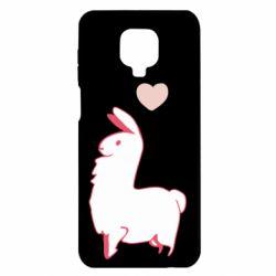 Чехол для Xiaomi Redmi Note 9S/9Pro/9Pro Max Alpaca with a heart