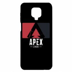 Чехол для Xiaomi Redmi Note 9S/9Pro/9Pro Max Apex red-black