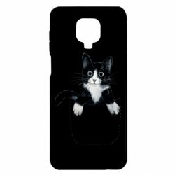 Чехол для Xiaomi Redmi Note 9S/9Pro/9Pro Max Art cat in your pocket