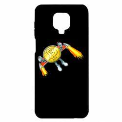 Чохол для Xiaomi Redmi Note 9S/9Pro/9Pro Max Bitcoin into space