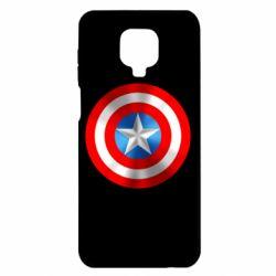 Чехол для Xiaomi Redmi Note 9S/9Pro/9Pro Max Captain America 3D Shield