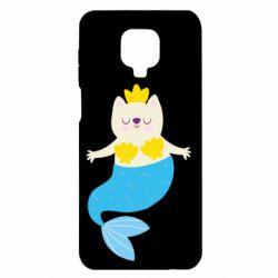 Чехол для Xiaomi Redmi Note 9S/9Pro/9Pro Max Cat-mermaid