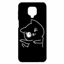 Чехол для Xiaomi Redmi Note 9S/9Pro/9Pro Max Cheerful kitten