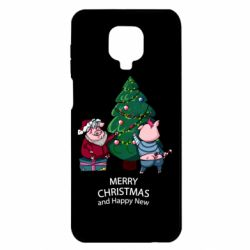 Чохол для Xiaomi Redmi Note 9S/9Pro/9Pro Max Christmas pigs decorate spruce