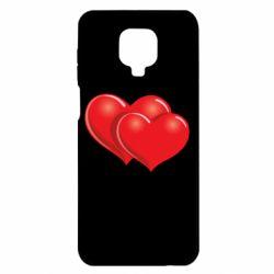 Чехол для Xiaomi Redmi Note 9S/9Pro/9Pro Max Два сердца