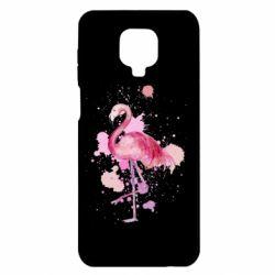 Чехол для Xiaomi Redmi Note 9S/9Pro/9Pro Max Flamingo pink and spray