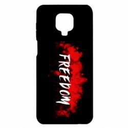 Чехол для Xiaomi Redmi Note 9S/9Pro/9Pro Max Freedom is red and black