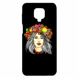 Чохол для Xiaomi Redmi Note 9S/9Pro/9Pro Max Girl and wreath