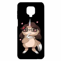 Чехол для Xiaomi Redmi Note 9S/9Pro/9Pro Max Girl Sloth with Unicorn Horn