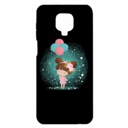 Чехол для Xiaomi Redmi Note 9S/9Pro/9Pro Max Girl with balloons