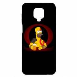 Чехол для Xiaomi Redmi Note 9S/9Pro/9Pro Max God of war: Simpson