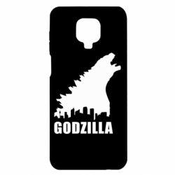 Чехол для Xiaomi Redmi Note 9S/9Pro/9Pro Max Godzilla and city