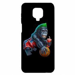 Чехол для Xiaomi Redmi Note 9S/9Pro/9Pro Max Gorilla and basketball ball