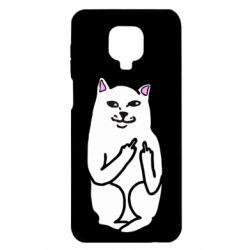 Чехол для Xiaomi Redmi Note 9S/9Pro/9Pro Max Кот с факом