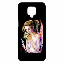 Чехол для Xiaomi Redmi Note 9S/9Pro/9Pro Max Naked girl with coffee