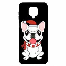 Чехол для Xiaomi Redmi Note 9S/9Pro/9Pro Max New Year's French Bulldog