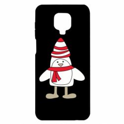 Чехол для Xiaomi Redmi Note 9S/9Pro/9Pro Max Penguin in the hat and scarf