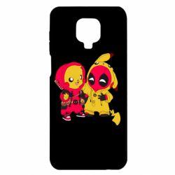Чехол для Xiaomi Redmi Note 9S/9Pro/9Pro Max Pikachu and deadpool