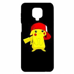 Чехол для Xiaomi Redmi Note 9S/9Pro/9Pro Max Pikachu in a cap