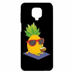 Чехол для Xiaomi Redmi Note 9S/9Pro/9Pro Max Pineapple with coconut